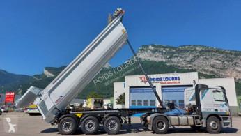 Semirimorchio benna edilizia Schmitz Cargobull SKI DISPO Benne acier 3 essieux RENFORCEE,HARDOX,toute équipée,pour appro,enrobés,tp...