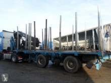 Damaged timber semi-trailer Diebolt S455A