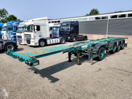Semirimorchio portacontainers Pacton Containerchassis 4-assen / 1-as ROR - 2x Lift-assen - Meeloop stuur-as (O253)