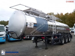 Trailer Clayton Food tank inox 23.5 m3 / 1 comp + pump tweedehands tank levensmiddelen