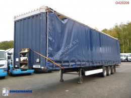 semi remorque Krone Curtain side trailer double stock 97 m3