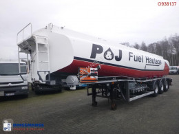 Tanker semi-trailer Fuel tank alu 38 m3 / 5 comp + pump