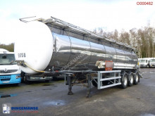 LAG Chemical tank inox 30 m3 / 1 comp + pump semi-trailer used tanker