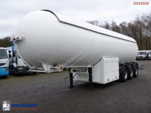 Robine Gas tank steel 49 m3 + pump/counter semi-trailer used gas tanker