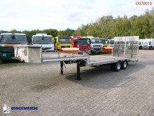 Semi reboque porta carros Veldhuizen Semi-lowbed trailer (light commercial) P37-2 + ramps + winch
