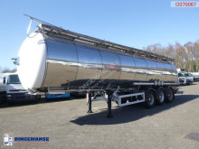 Feldbinder Chemical tank inox 37.5 m3 / 1 comp / ADR 08-2020 semi-trailer
