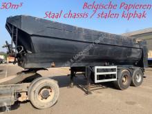 semi remorque Kaiser 30m³ - HALF PIPE KIPPER - BELGISCHE PAPIEREN - HYDR ACHTERKLEP / VALVE - STEEL BUCKET - STEEL CHASSIS - AIR SUSPENSION - CLEAN
