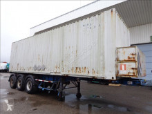 Semi remorque porte containers Groenewegen Container chassis 3-Assig Steel suspension