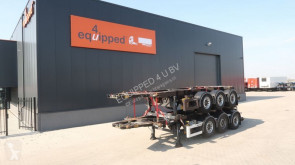 Van Hool stack of 2x 20FT 8.40m chassis, 3-axles, empty weight: 3.300kg, SAF INTRADISC, 2x liftaxle, ADR (EXII, EXII, FL, OX, AT), NL-Cha semi-trailer