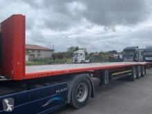 Damaged flatbed semi-trailer Kögel
