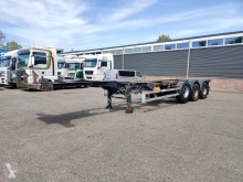Renders ROC 12.27 - 3 assen BPW - Trommelremmen - Lift-as - Uitschuifbaar Achter 12/2020APK (O370) semi-trailer used container