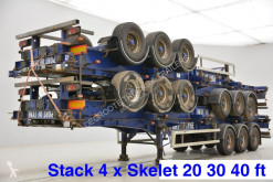 SDC Stack 4 x skelet: 20-30-40 ft semi-trailer