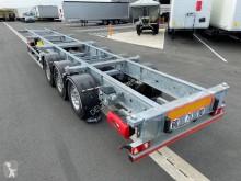 Semi remorque Trouillet châssis droit porte containers occasion