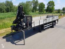 semirimorchio Pacton Open met kraan HIAB 10 ton/m Kooiaap