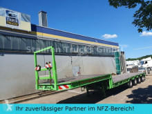 Broshuis 4-Achs SEMI Tieflader extendable 58 to semi-trailer used heavy equipment transport