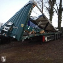 Krone Paper Liner semi-trailer damaged tarp