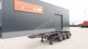 semi remorque Van Hool 20FT/3-Achsen, Leergewicht: 3.300kg, SAF INTRADISC, 2x Liftachse, ADR (EXII, EXII, FL, OX, AT), NL-Chassis