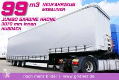 Félpótkocsi Krone MEGA LINER JUMBO GARDINE HUBDACH 99 m³ új ponyvával felszerelt plató