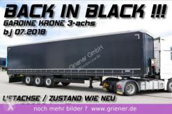 Semi remorque savoyarde Krone SDP 27 eLB50 CS / GARDINE /SCHWARZ /6050 kg leer