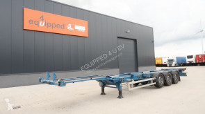 Renders 40FT HC, SAF+disc (INTRADISC), liftaxle, empty-weight: 5.290kg, NL-chassis, APK: 03/2021, 4x available semi-trailer used container