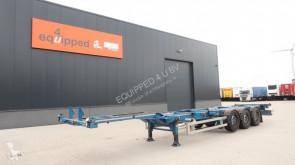 Renders Auflieger Container 40FT HC, SAF+schijf (INTRADISC), liftas, leeggewicht: 5.290kg, NL-chassis, APK: 01/2021, 4x beschikbaar