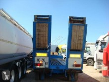 Cazenave 3 ESSIEUX SUSPENSION LAMES 55 TONNES AVEC TREUIL semi-trailer used heavy equipment transport