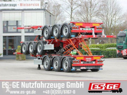 D-tec 3-Achs-Containerchassis semi-trailer used flatbed