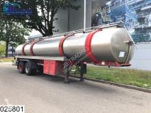 semi reboque Magyar Food RVS tank, 28000 Liter, 7 Compartments, Steel suspension
