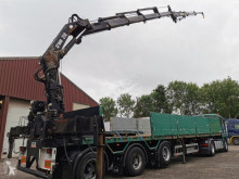 Pacton flatbed semi-trailer TPD.342 3-Assen - 1 lift-as - 2 stuur-assen - HIAB 250-4 en JIB 60-2