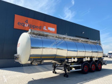 37.500L, 3 compartments, 2 baffles, valid ADR/MOT untill 31-03-2021, weight, 7.840kg, 2 liftaxle, SAF Intradisc semi-trailer used chemical tanker