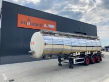 37.500 l, 3 Fächer, 2 Trennwände, gültige ADR / TÜV bis zum 05.02.2021, Gewicht 7,840 kg, 2 Liftachsen, SAF Intradisc semi-trailer used chemical tanker