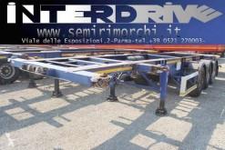 Semi remorque Zorzi semirimorchio rallette 3 assi portacontainer adr tank porte containers occasion