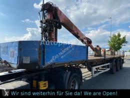 Полуремарке Kotschenreuther SL 270/3L Auflieger Plattform mit Kran Greifer платформа втора употреба