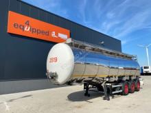 Návěs 37.500L/3 comp., schommelschotten, ADR /APK 02/2021, leeggewicht, 7.840 kg, 2x liftas, SAF Intradisc, 4x beschikbaar, NL-Trailer cisterna chemikálie použitý