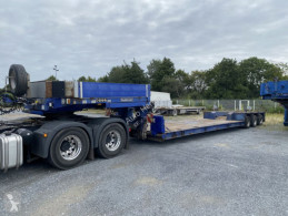 Goldhofer Satteltieflader Tele semi-trailer used heavy equipment transport