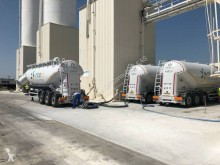 Nursan-Trailer powder tanker semi-trailer HORZ ALU 38M3 2 CONES