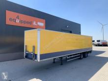 semi remorque Groenewegen Box, BPW, ondervouwklep, stuuras, NL-trailer, AOK: 10/2020