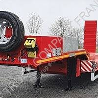 Semi remorque Hoet Trailer porte engins occasion