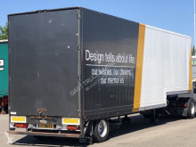 Semi remorque porte engins Pacton 1-AS GESLOTEN SEMI TRAILER