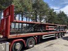 Groenewegen flatbed semi-trailer 2x plateau / platform - 13m60 - BPW - drumbrakes / tambours - good condition / bonne etat