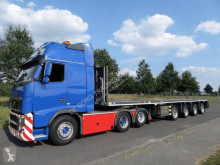 Dieplader Broshuis 4 AOU-58-3 triple Extendable Flatbed Trailer tweedehands