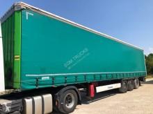 Semitrailer skjutbara ridåer (flexibla skjutbara sidoväggar) Krone Profi Liner TRÈS PROPRE