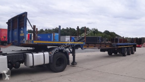 Semirremolque LAG 0-3-37.5 (6 meter extendable --> max length is 18.7m / SAF-axles / DRUM BRAKES / BELGIAN TRAILER) caja abierta usado