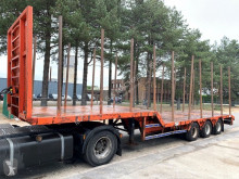 Porte engins Trax 3-as DIEPLADER + RONGEN / LOWLOADER / GONDOLA / PORTE CHAR - AIR SUSPENSION - BE Papieren neuf
