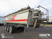 Semi remorque Schmitz Cargobull Semitrailer Tipper Steel half pipe body 24m³ benne occasion