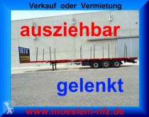 Návěs nc 3 Achs Tele- Sattelauflieger, 4,20 m ausziehbar nosič strojů použitý