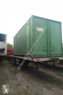 Trailor flatbed semi-trailer tri axle on springs with twist locks for containers