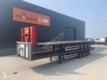 Semitrailer platta Burg stapel van 2x mooie platte oplegger, NL-registratie, APK: 03/2021