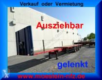 Semi reboque Schwarzmüller 3 Achs Auflieger gelenkt, 6 m Ausziehbar + Heck estrado / caixa aberta usado