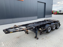 Semi remorque Van Hool 20FT/3-axle, empty weight: 3.300kg, SAF INTRADISC, 2x liftaxle, ADR, NL chassis, ADR/APK: 02/2021 occasion